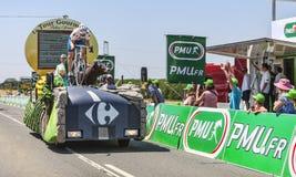 Carrefour Vrachtwagen Stock Afbeeldingen