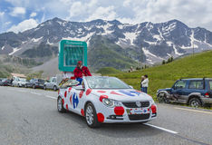 Carrefourmedel - Tour de France 2014 Royaltyfria Bilder