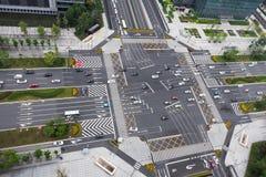 Carrefours urbains de route - porcelaine Image stock