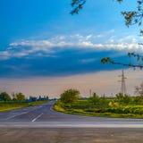 Carrefours vides près de Kikinda, Serbie Image libre de droits