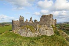 Carreg Cennen城堡 免版税库存照片