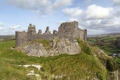 Carreg Cennen城堡 免版税库存图片