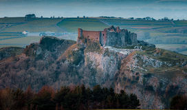 Carreg Cennen slott Arkivbild