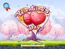 Carreg a tela ao jogo de computador do dia de Valentim Fotos de Stock Royalty Free