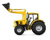 Carregador amarelo do trator Foto de Stock Royalty Free