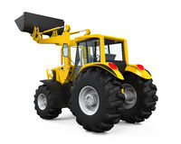 Carregador amarelo do trator Imagem de Stock Royalty Free