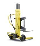 Carregador amarelo isolado no fundo branco 3d rendem os cilindros de image Foto de Stock