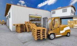 Carregador com pálete Imagem de Stock