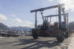 Carregador da carga no porto de Whittier Fotos de Stock Royalty Free