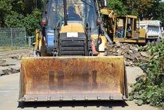 Carregador da máquina escavadora fotografia de stock