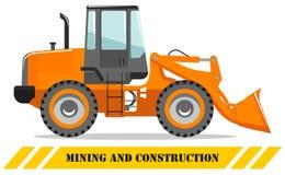 Carregador da roda Ilustração detalhada da máquina de mineração e do equipamento de construção pesados Ilustração do vetor ilustração royalty free