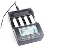 Carregador de bateria inteligente de quatro entalhes Imagem de Stock Royalty Free