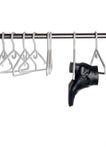 Carregador de couro preto que pendura um pólo do armário Imagens de Stock Royalty Free