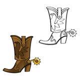 Carregador de cowboy ilustração royalty free