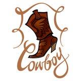 Carregador de cowboy ilustração do vetor