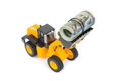 Carregador e dinheiro do brinquedo Imagens de Stock
