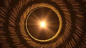 Carregador em um círculo em um preto filme