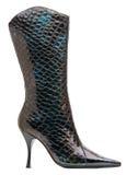 Carregador high-heeled fêmea preto isolado com trajeto Imagem de Stock Royalty Free