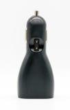 Carregador preto do carro do dispositivo da eletrônica de USB no branco Imagens de Stock Royalty Free