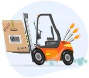 Carregador rápido com caixa ilustração royalty free