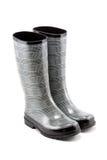 Carregadores de chuva preto e branco de Herringbone Fotografia de Stock