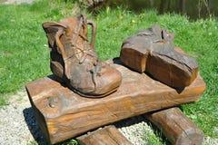 Carregadores de madeira Foto de Stock