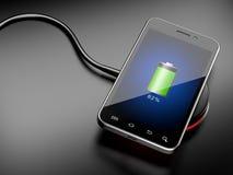Carregamento sem fio do smartphone Fotografia de Stock