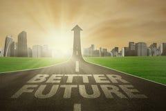 Carreggiata che coltiva-verso l'alto al migliore futuro illustrazione di stock