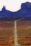 Carreggiata del deserto Fotografia Stock