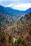Carreggiata della montagna della regione selvaggia Fotografia Stock Libera da Diritti