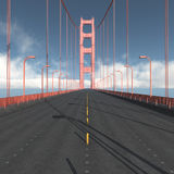 Carreggiata di golden gate bridge a San Francisco Fotografia Stock Libera da Diritti