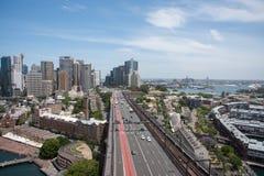 Carreggiata, orizzonte e lungomare Sydney Fotografie Stock
