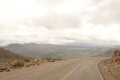 Carreggiata peruviana Fotografia Stock Libera da Diritti