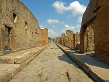 Carreggiata a Pompeii Fotografia Stock
