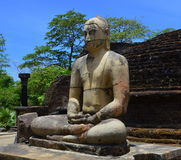 Carregue a estátua da Buda no vatadage de Polonnaruwa, Sri Lanka Fotografia de Stock Royalty Free