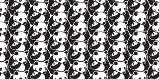 Carregue a garatuja isolada sem emenda dos desenhos animados da ilustração do papel de parede do fundo do urso polar da panda do  ilustração do vetor