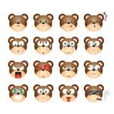 Carregue o emoticon, carregue a emoção, carregue a etiqueta, expressão do urso Imagem de Stock