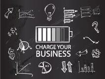 Carregue seu negócio no quadro-negro ilustração royalty free