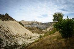 Carreira abandonada paisagem em Moldova Foto de Stock Royalty Free