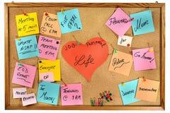 Carreira contra a vida pessoal. Mensagens criativas escritas em notas de papel coloridas. Foto de Stock