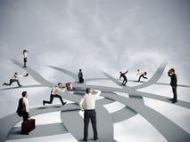 Carreira da confusão e do negócio Imagens de Stock