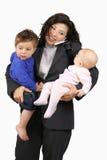 Carreira de mnanipulação e família Imagem de Stock Royalty Free