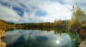 Carreira do estudante Autumn Panorama fotografia de stock
