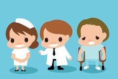 Carreira dos desenhos animados sobre o hospital Fotos de Stock Royalty Free