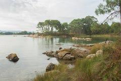 Carreiron natural park in Arousa Island Stock Photography