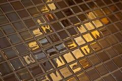 Carrelage d'or Photos libres de droits