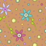 Carrelage de la texture colorée de fleur Images stock