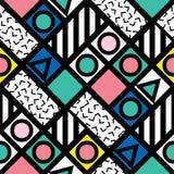 Carrelage géométrique décoratif de formes Modèle irrégulier multicolore Fond coloré abstrait Decorativ artistique Photographie stock libre de droits
