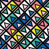 Carrelage géométrique décoratif de formes Modèle irrégulier multicolore Fond coloré abstrait Decorativ artistique Images libres de droits