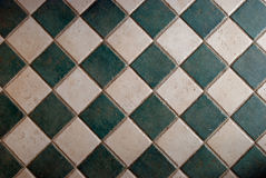 Carrelage - rustieke diamantentegels - terracotta Stock Afbeelding